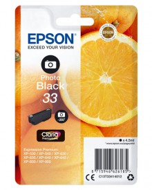 Tintenpatrone T3341 (33) photoschwarz für Expression Premium XP-530 /