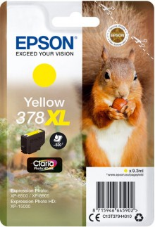 Tintenpatrone T3794 XL gelb für Expression Photo XP-8500, 378 XL