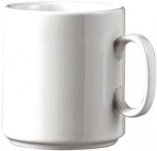 Kaffeebecher Diane weiß 6er Set aus weißem Porzellan,stapelbar