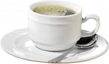 6-tlg. Set Kaffee- und Suppenunter- tassen ALICE aus weißem Porzellan