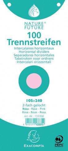 Trennstreifen rosa 190g/qm Karton, 105 x 240 mm, gelocht