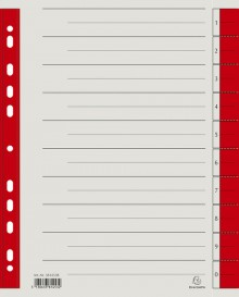 Trennblätter A4 rot, 230g/qm Karton Mikroperforation