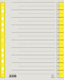 Trennblätter A4 gelb, 230g/qm Karton Mikroperforation