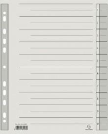Trennblätter A4 grau, 230g/qm Karton Mikroperforation
