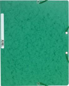 Sammelmappe/Eckspannermappe A4+ 400g Manila grün m. Gummiband o. Klappen
