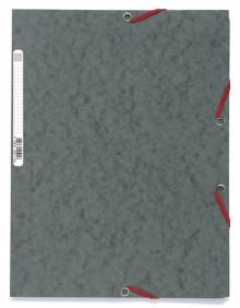 Sammelmappe/Eckspannermappe, A4+, 400g, Manila, grau, 3 Klappen und
