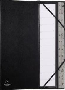 Ordnungsmappe A-Z 24-Fächer schwarz