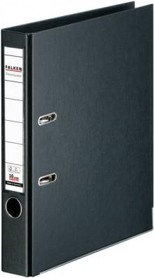 Falken Ordner PP A4 50mm schwarz Chromocolor mit Einsteckschild