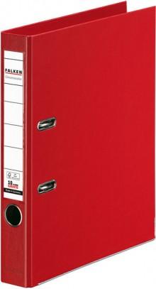 Falken Ordner PP A4 50mm rot Chromocolor mit Einsteckschild