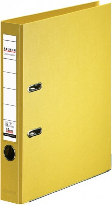 Falken Ordner PP A4 50mm gelb Chromocolor mit Einsteckschild