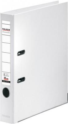 Falken Ordner PP A4 50mm weiß Chromocolor mit Einsteckschild