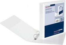 Präsentationsringbuch A4, 2 Ring D-Mechanik, 30mm Ringdurchm. weiß