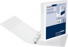 Präsentationsringbuch A4, 4 Ring D-Mechanik, 30mm Ringdurchm. weiß