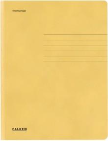 Falken Dreiklappenmappe in gelb