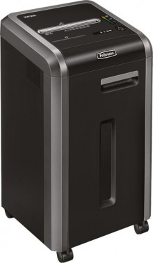 Fellowes Powershred 225i in schwarz mit Rollen