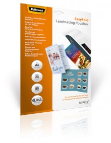 Laminierfolie A4 80mic, Easy Fold