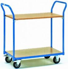 Tischwagen 1600 Ladefläche 850x500mm, 2 Lenk- und 2 Bock-