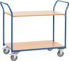 Tischwagen 1602 Ladefläche 1000x600mm, 2 Lenk- und 2 Bock-