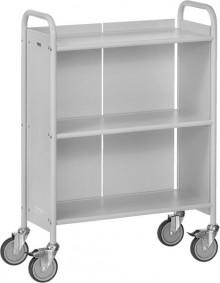 Bürowagen m. 3 Böden, Ladefläche 720x 350mm, 4 Lenkrollen, 2 feststellbar,