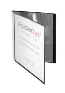 FolderSys Sichtbuch in schwarz mit Sichttasche