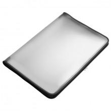 Transparent-Portfolio, A3, schwarz, Folie matt, mit Textil-Reißverschluss