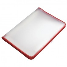 Transparent-Portfolio, A3, rot, Folie matt, mit Textil-Reißverschluss