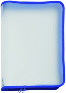 Dokumenten-Portfolio A4 blau 320 x 225 x 30 mm (HxBxT)