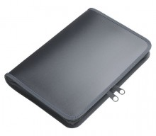 Dokumenten-Portfolio A5 anthrazit transluzent 230 x 165 x 30 mm (HxBxT)
