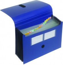 Akkordeon-Tasche 12er dunkelblau 240 x 330 x 28 mm (HxBxT)