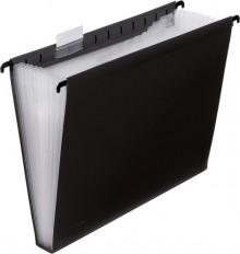 Hänge-Fächertasche 12er schwarz