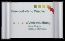 Türschild Clip 180x115mm, silber Franken # BS0602