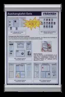 Türschild Clip 330x215mm, silber Franken # BS0605