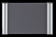Türschild Clip 148x148mm, silber Franken # BS0606