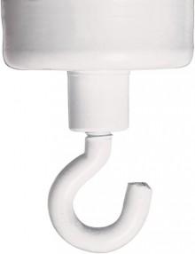 Hakenmagnet 47mm, weiß, rund, bis 18kg