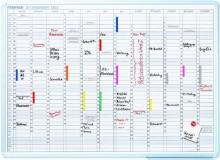 Jet Kalender 90x120 für handschr. Eintr.in Tagesfelder 21x75mm