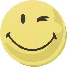 Moderationskarten 10cm # UMZ10S1 100 Stück, Gesicht positiv, gelb