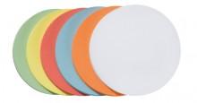 Mod.Karten Kreise 9,5cm sort. farblich sortiert