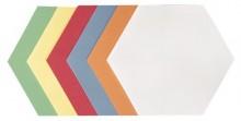 Moderationswaben 16,5x20cm 250 Stück farblich sortiert
