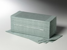 Falthandtuch Verde 25x23cm V-Falz grün 1-lg. 250Blatt