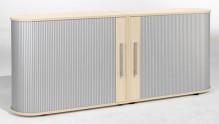 Sideboard 2 OH Flex mit Standfüßen silber/Ahorn
