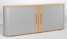 Sideboard 2 OH Flex mit Standfüßen silber/Buche