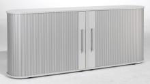 Sideboard 2 OH Flex mit Standfüßen silber/Lichtgrau