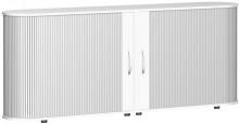 Sideboard 2 OH Flex mit Standfüßen silber/weiß