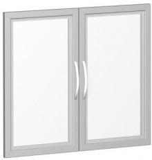 Glastürsatz mit Holzrahmen für 800er Breite Schränke