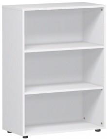 Regal 3 OH m. Standfüßen weiß 800x420x1104 Flex