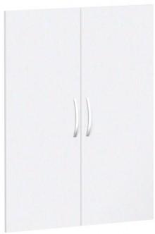 Flügeltürensatz 3 OH weiß für Regalbreite 80 cm, Flex