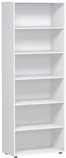 Regal 6 OH m. Standfüßen Flex weiß 800x400x2160