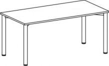 Schreibtisch B1800xT800mm ahorn/weißalu, 4-Fuß Flex