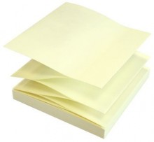 Z-Notes, 75 x 75mm, 100 Blatt, gelb