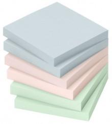 Haftnotiz, 75 x 75mm, 100 Blatt, Pastellgrün, Pastellblau